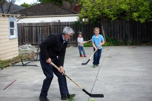 Sandlot hockey