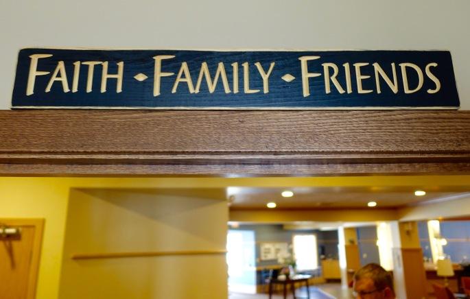 Banner over door in one patient's room at David's House