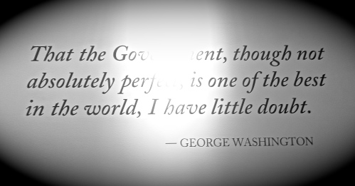 George Washington reflecting on U.S. Government