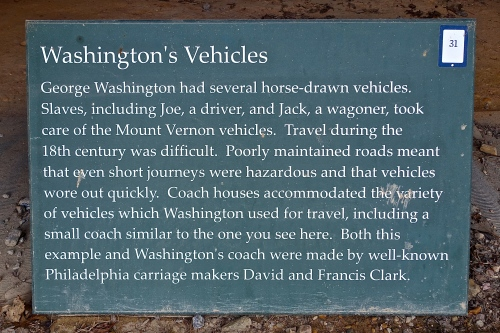 George Washington's Vehicles