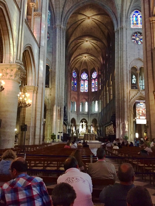 Interior of Notre Dam Cathedral. 5.8.16