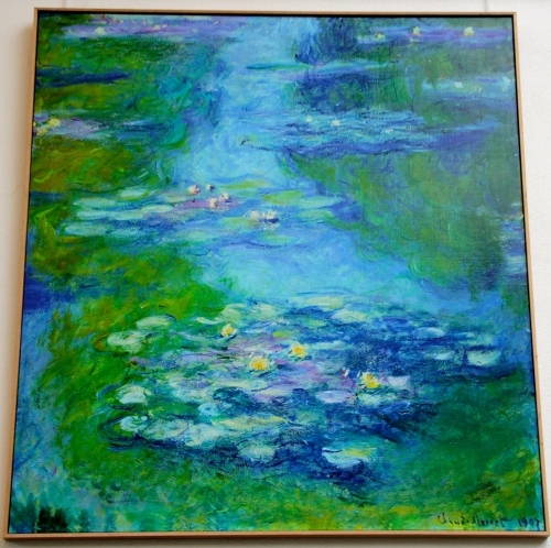 Lily pond by Claude Monet at Giverny. France. 05.09.16
