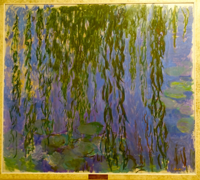 Monet. Painting of his lily pond