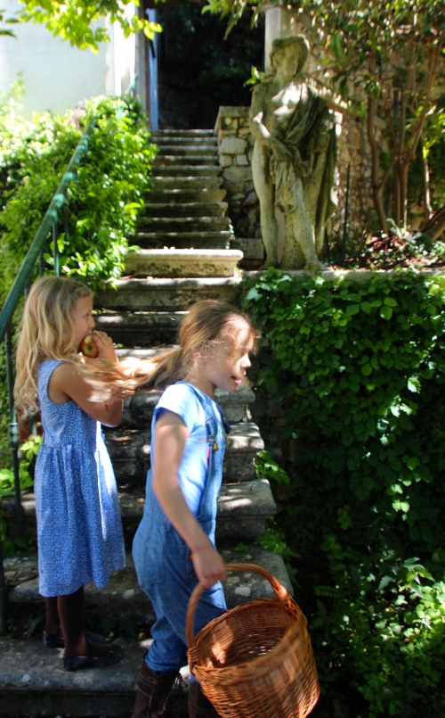 Playing on steps