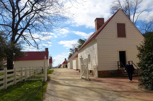 Reconstructed Quarters for slaves and farm hands Mt. Vernon VA