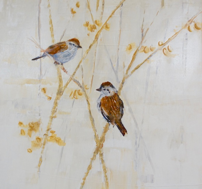 Sparrows. Picture on wall of David's House Ministries