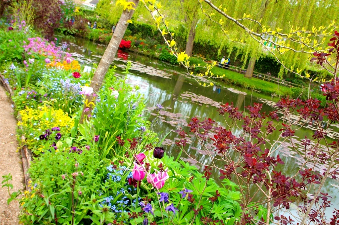 Spring flowers blooming at Giverny. France. 05.09.16. 16