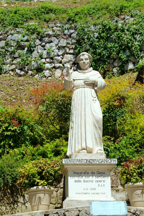 Statue of a saint in Italy