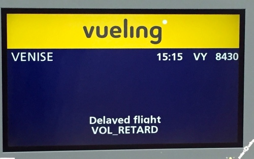 Vueling Delayed Flight from Paris to Venice on May 19. 2016