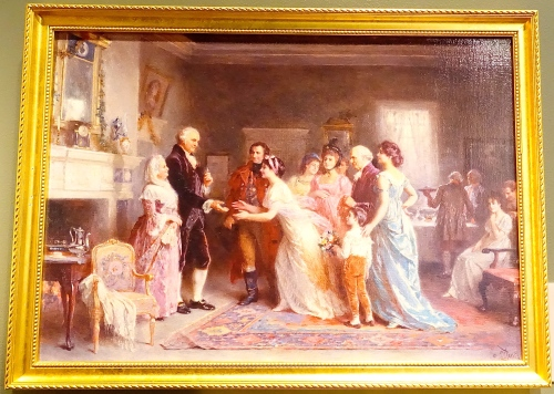 Washington's Last Birthday. Painting 1798 by Jean Leon Gerome Ferris 1895