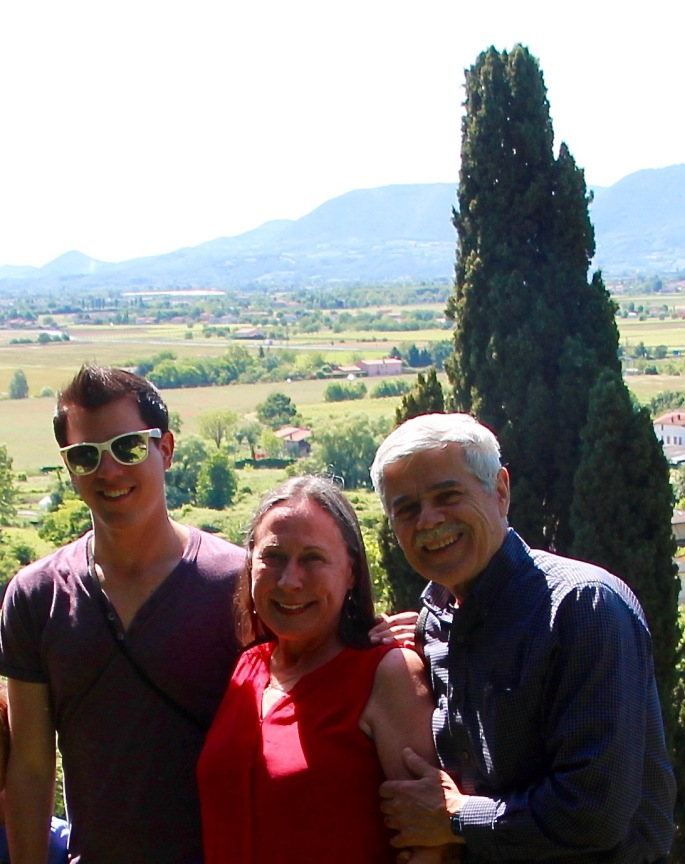 Alan Joel and Kathi in Italy