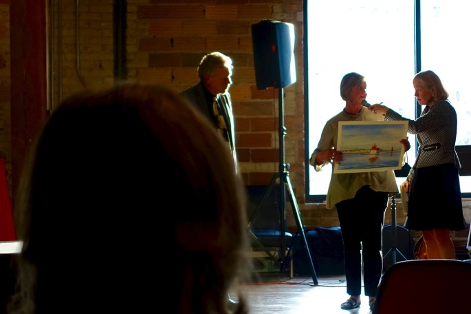 Auctioning Painting at ArtPrize 4