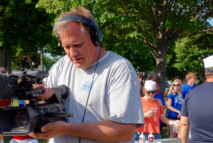 Camera Man 2 at Ludington's World's Largest Sundae Attempt