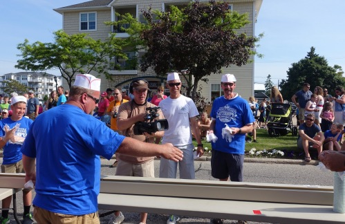 Camera Man at Ludington's World's Largest Sundae Attempt