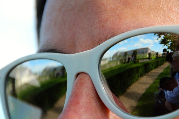Chateau Villandry through someone else's sunglasses!
