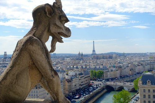Chimera at Notre Dame Cathedral. Paris