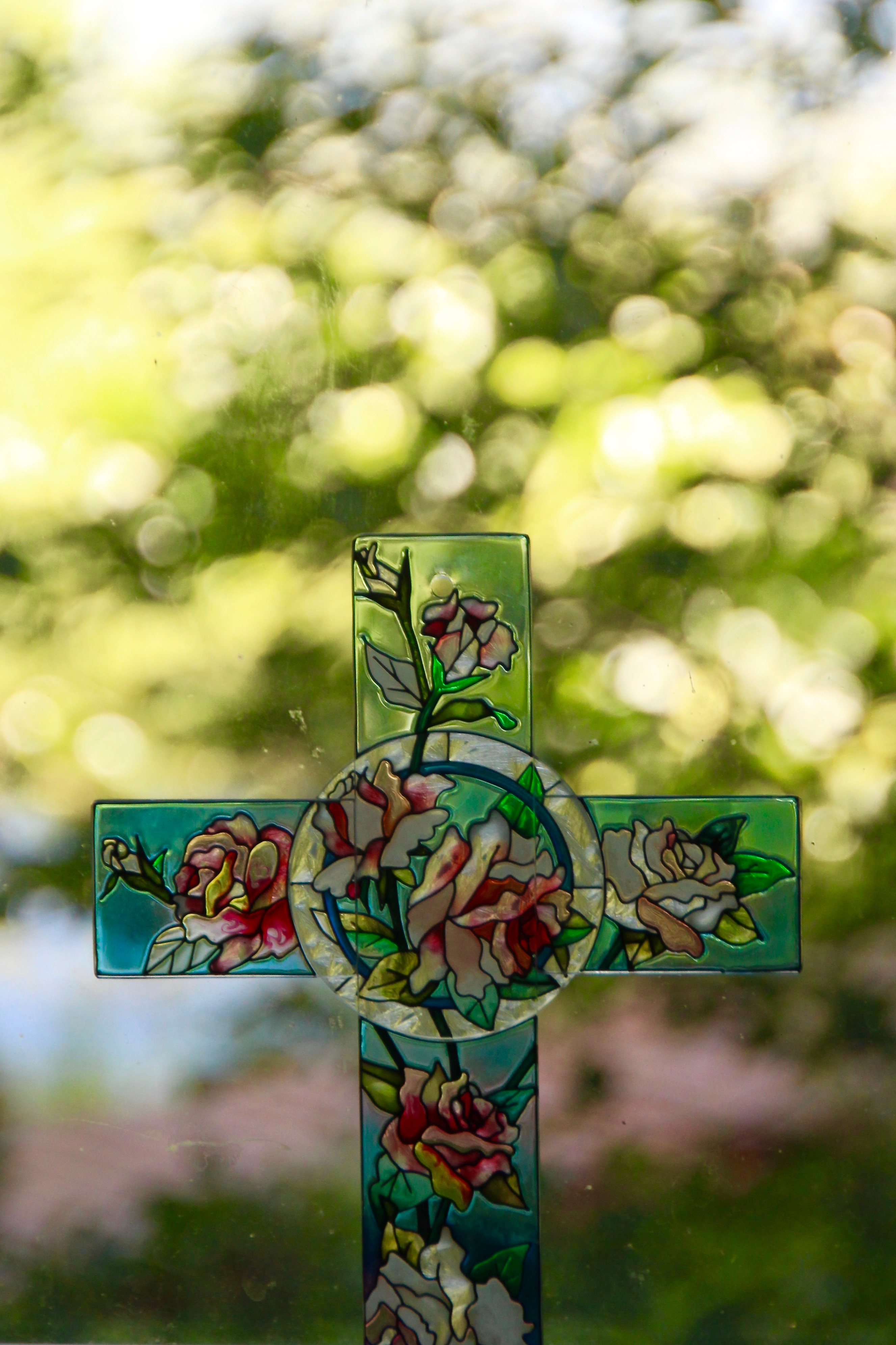 Cross by window