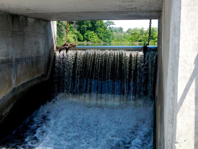 Dam on the Rogue River MI