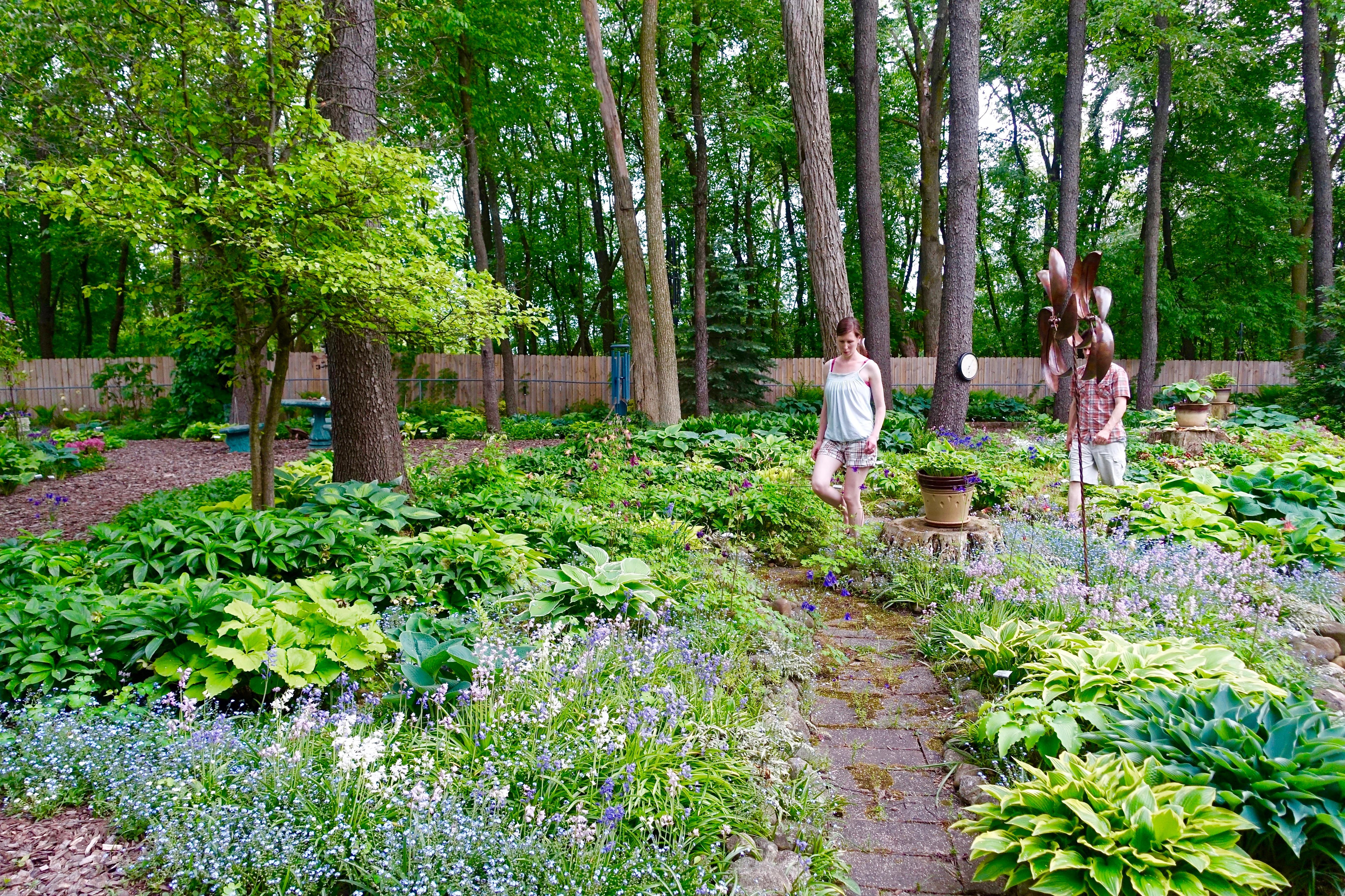 Dan and Brianna in Hosta Garden