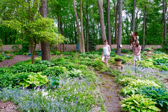 Dan and Brianna in Hosta Garden