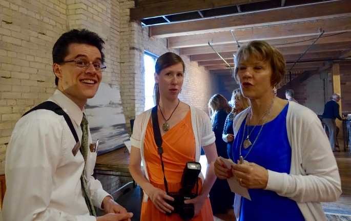 Daniel and Brianna with President's wife at ArtFeast