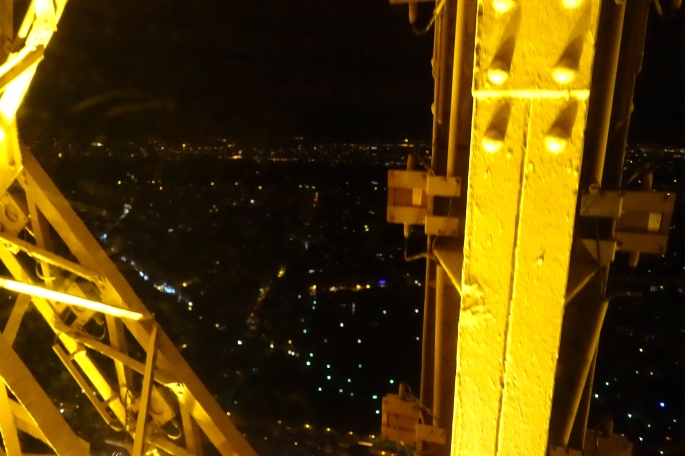 Descending the Eiffel Tower