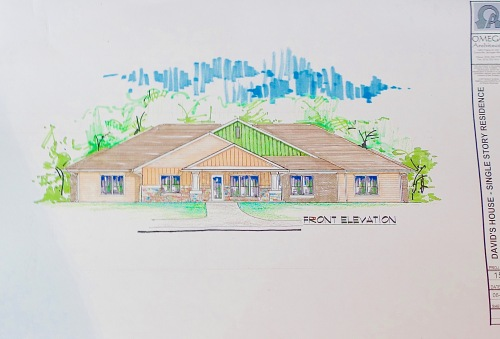 Drawing for residence at David's House Ministries