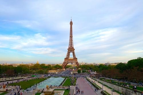 Eiffel Tower as seen from Jardins du Trocadéro