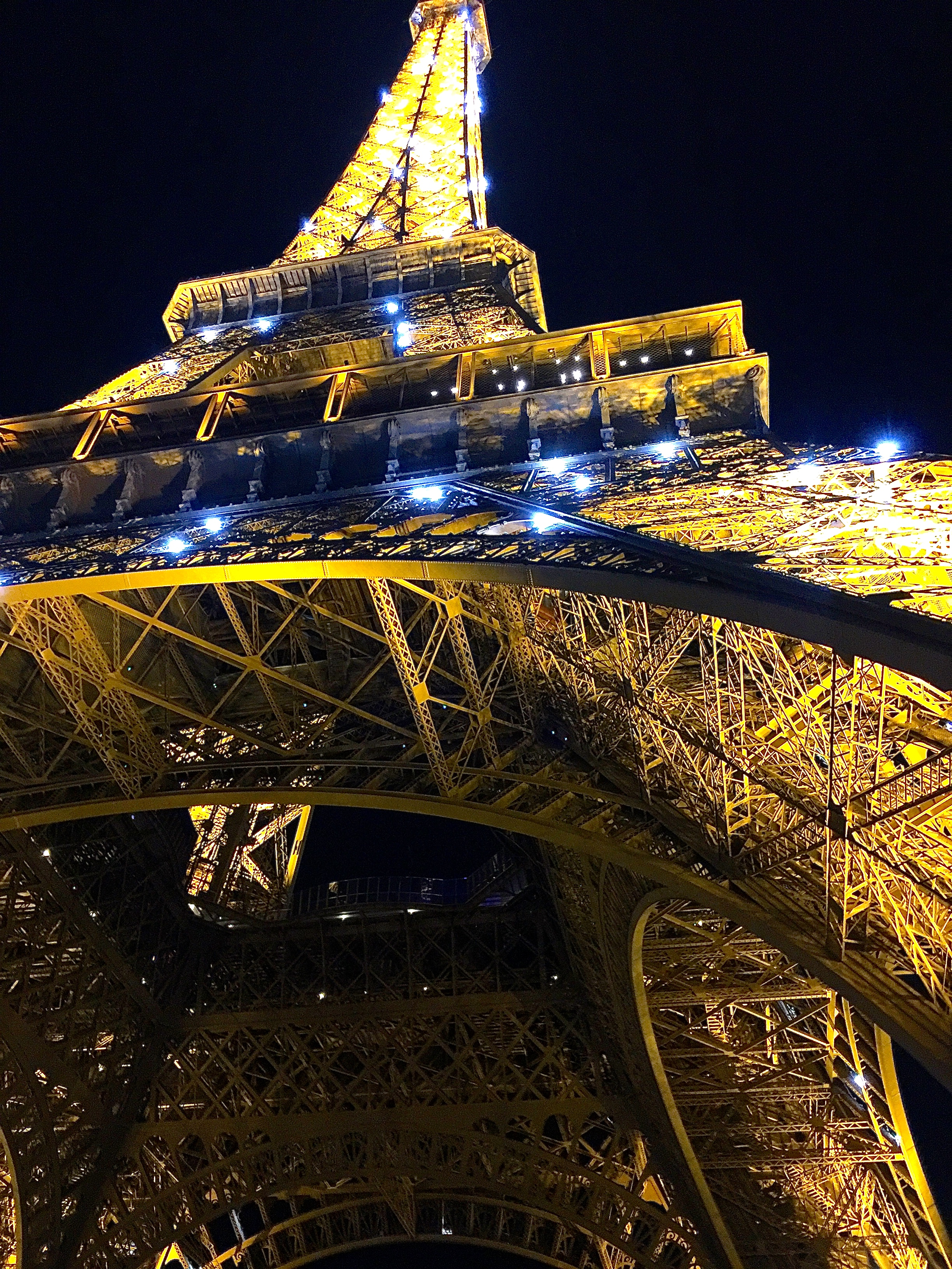 Eiffel Tower at Night Close up
