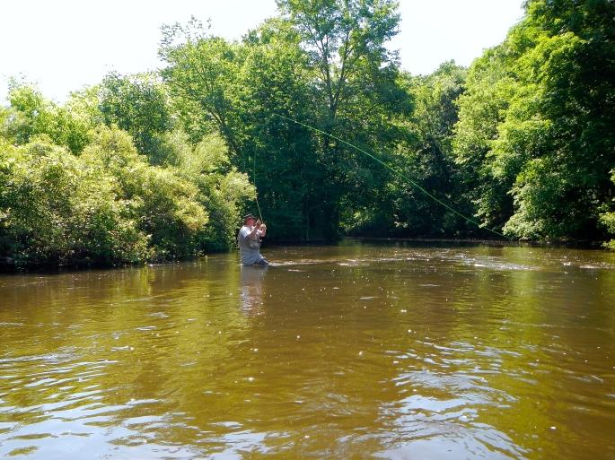 Fisherman on the Rogue River MI