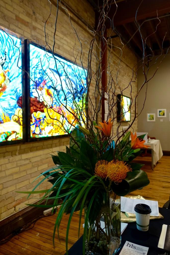 Floral Arrangement at ArtFeast