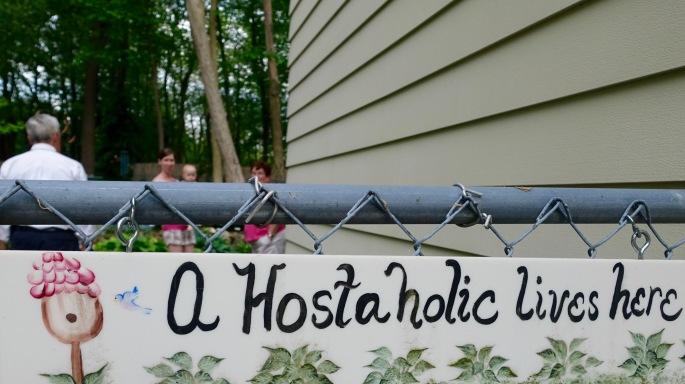 Hostaholic Lives Here Sign
