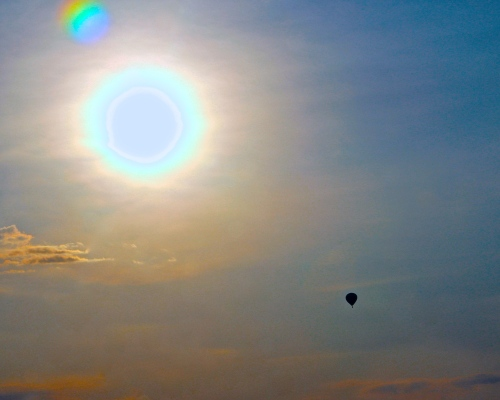 Hot Air Balloon in Sun