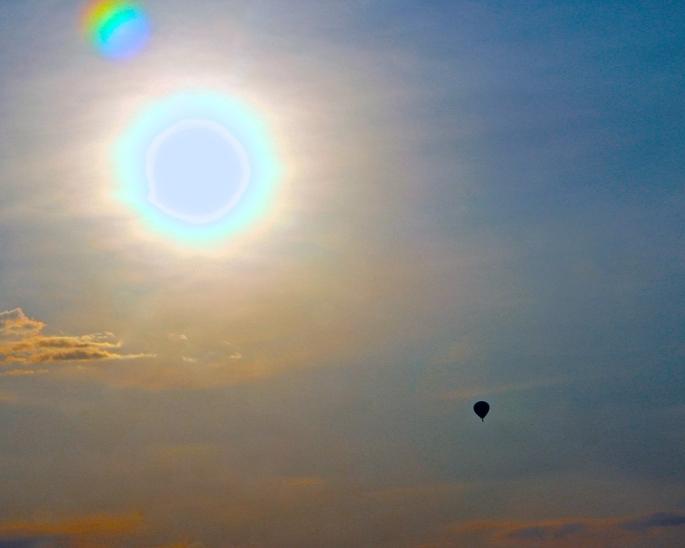Hot Air Balloon in Sun