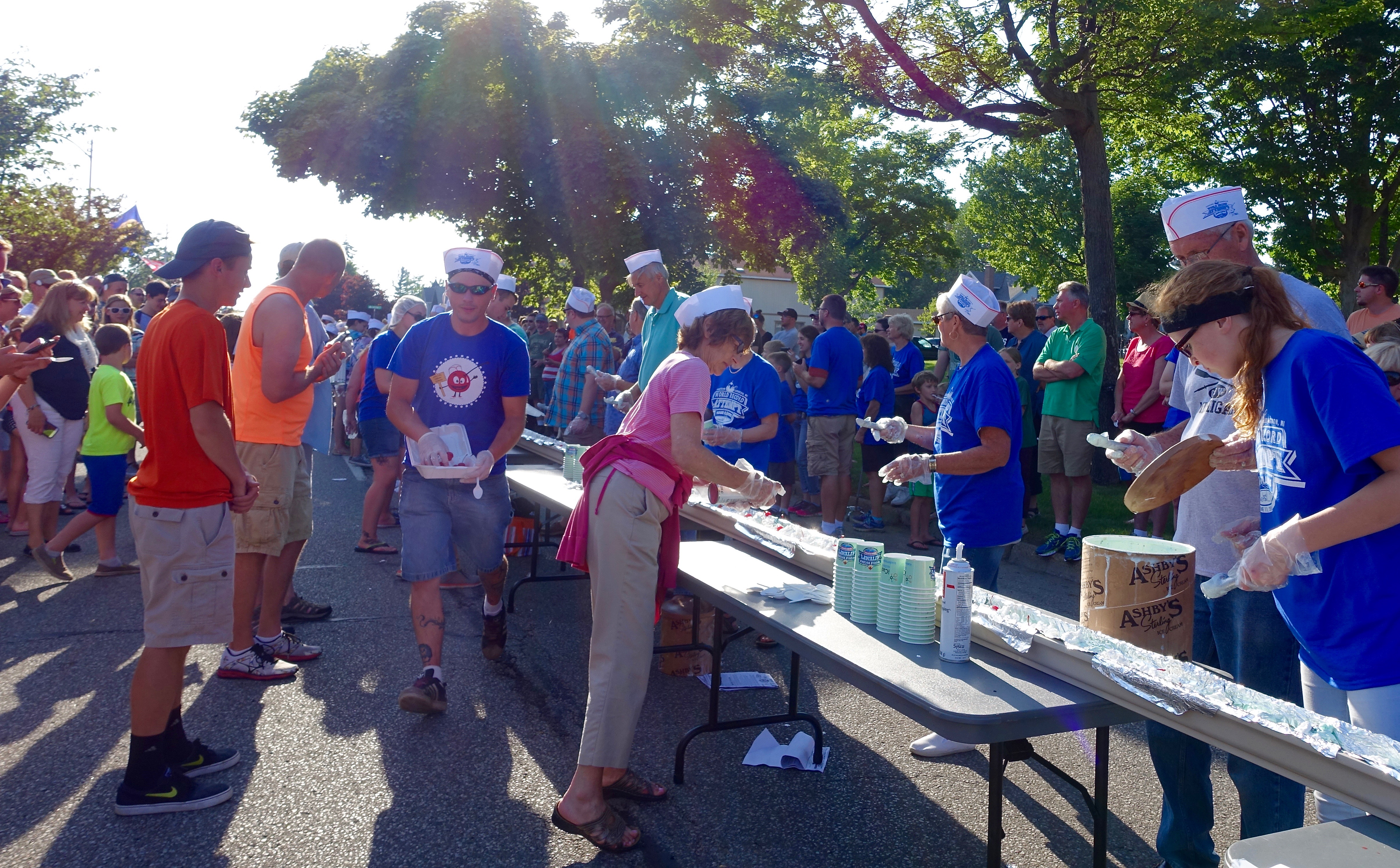 I put the cherry on top at Ludington's World's Largest Sundae Attempt