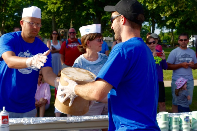 Ice Cream at Ludington's World's Largest Sundae Attempt