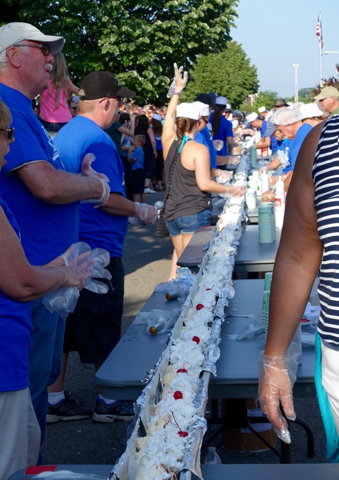 It's Done! at Ludington's World's Largest Sundae Attempt