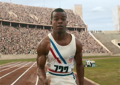 Jessie Owens on the track. The Race