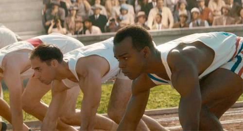 Jessie Owens ready to run. The Race