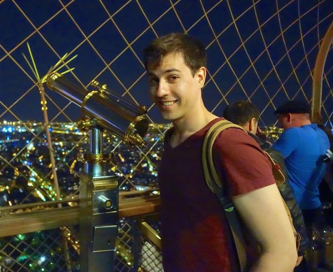 Joel on top of Eiffel Tower