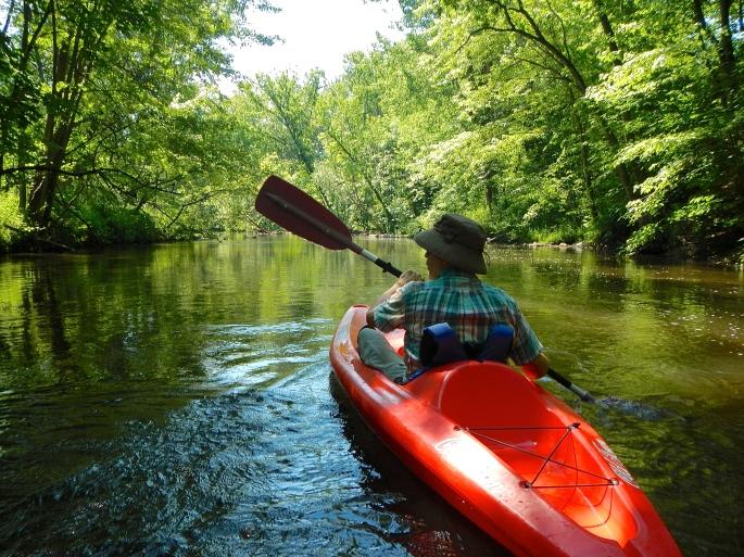 Kayaking on the Rogue River MI