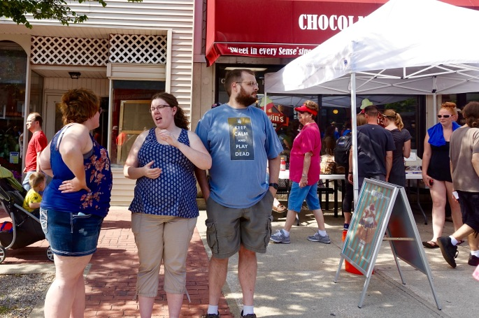 Keep Calm and Play Dead at Ludington's World's Largest Sundae Attempt