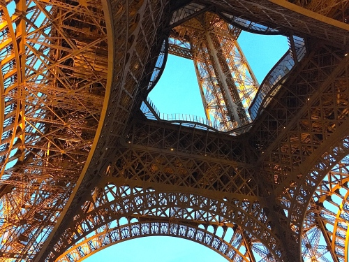 Lacy Ironworks of Eiffel Tower
