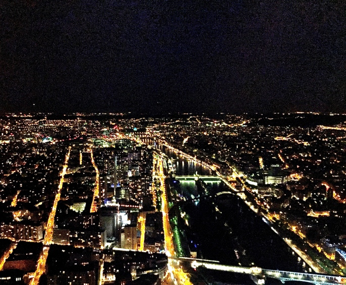 Lights of Paris from Eiffel Tower