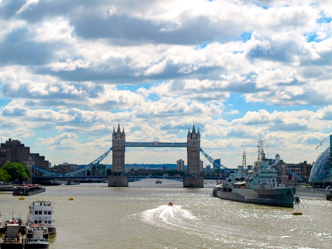 London Bridge across Thames River