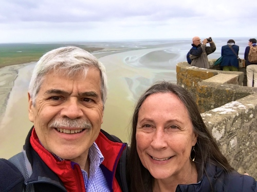 Looking out at ocean from Mont St. Michel