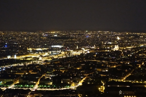 Louve at night from Eiffel Tower