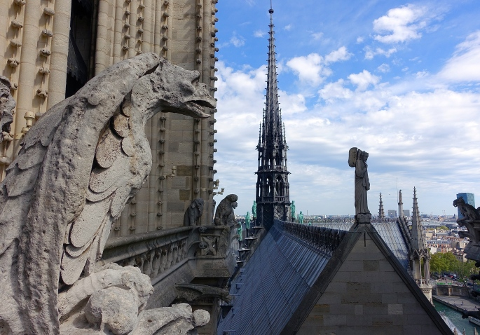Notre Dame Cathedral. Paris Gargoyle