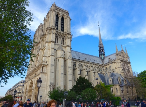 Notre Dame Cathedral. Paris side view