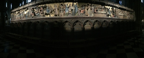 Notre Dame Cathedral Paris Story of Christ in relief
